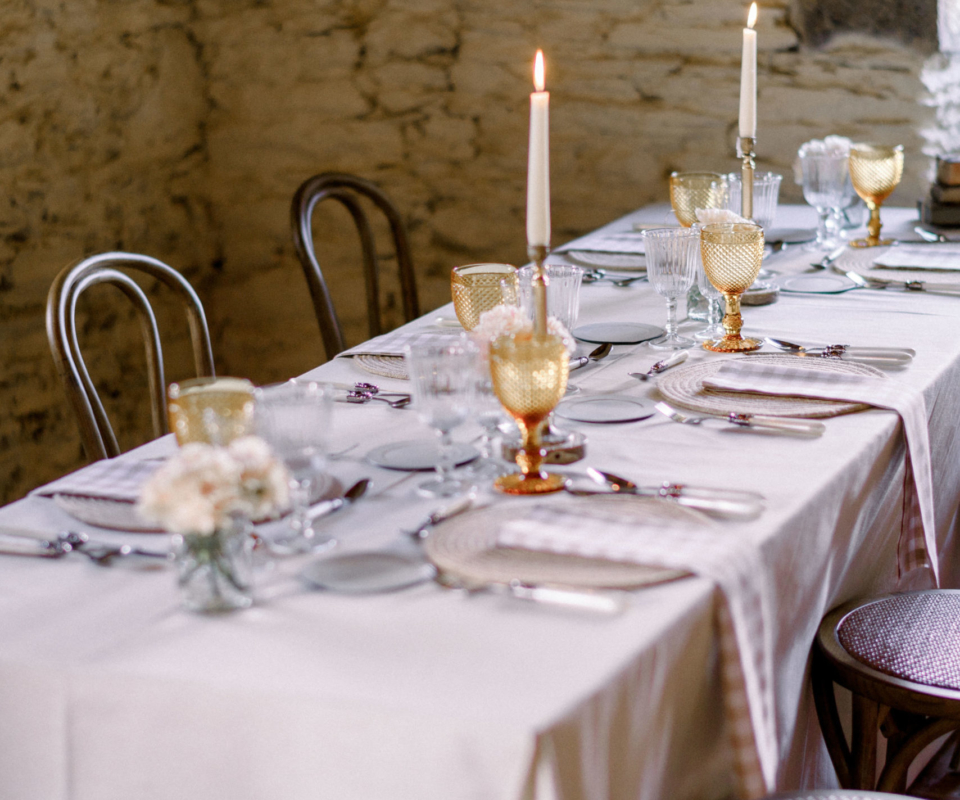 Mesa banquete nupcial - alquiler de material
