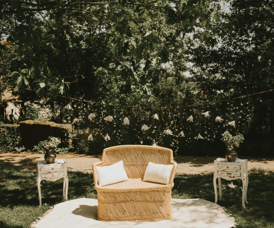sillón ceremonia - alquiler de material nupcial