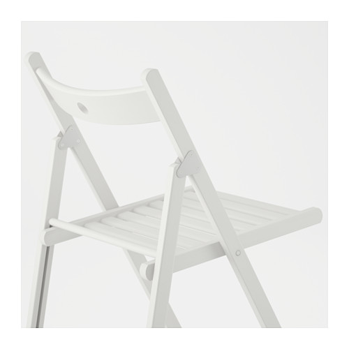 Silla blanca plegable