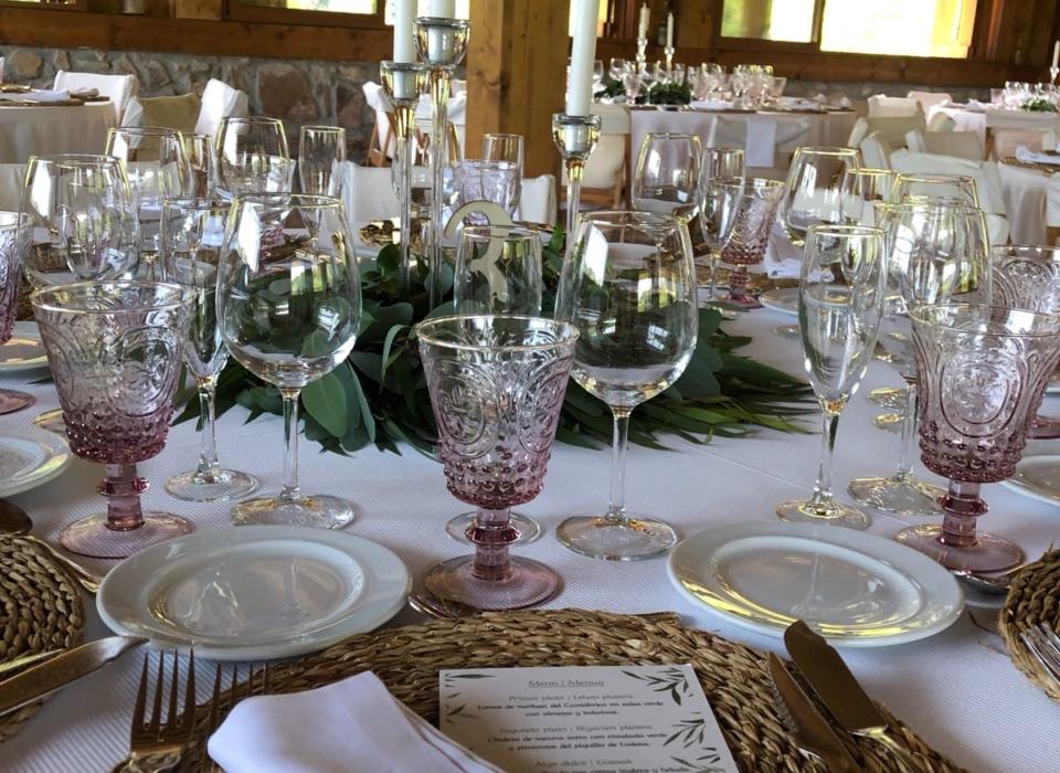 Alquiler de bajo platos para bodas