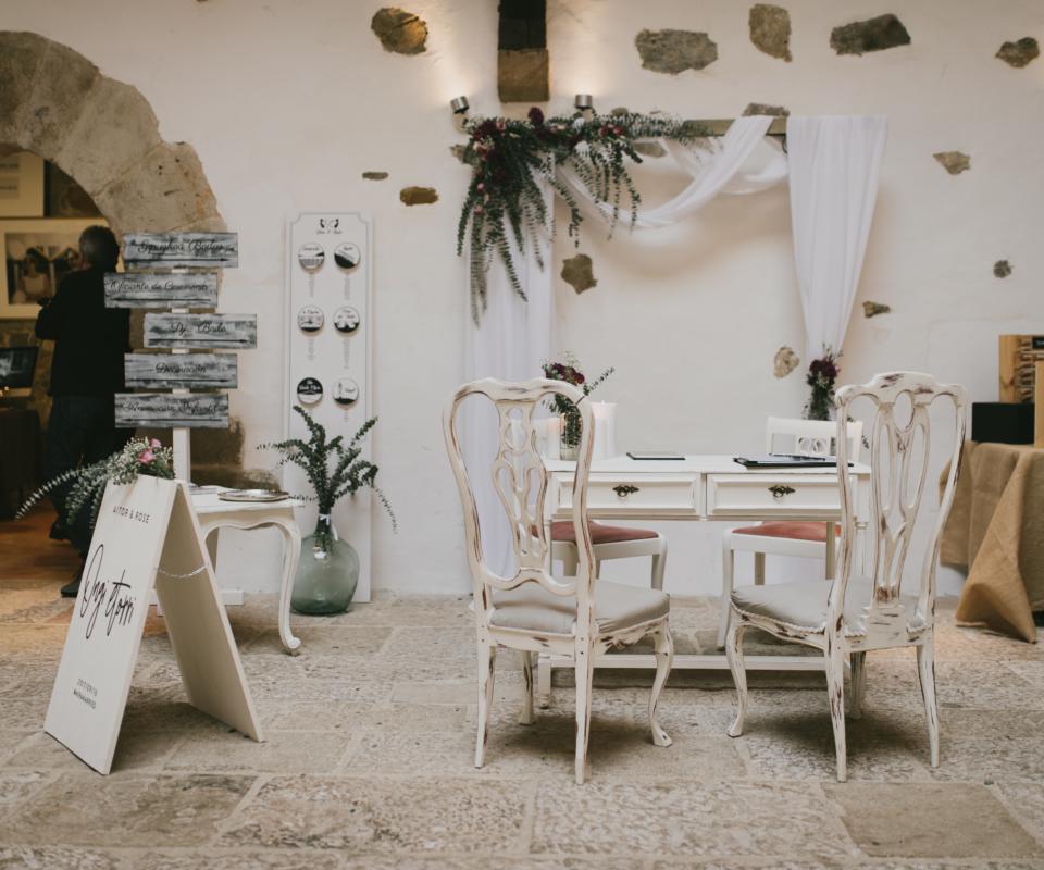 alquiler de mobiliario para bodas euskadi