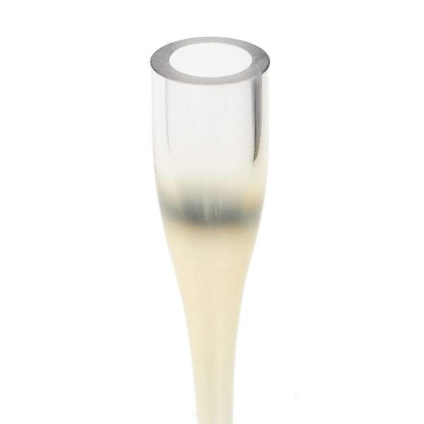 candelabro cristal dorado individual