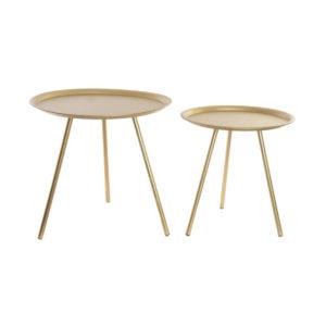 mesa auxiliar dorada