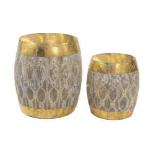 mesa auxiliar metal dorado