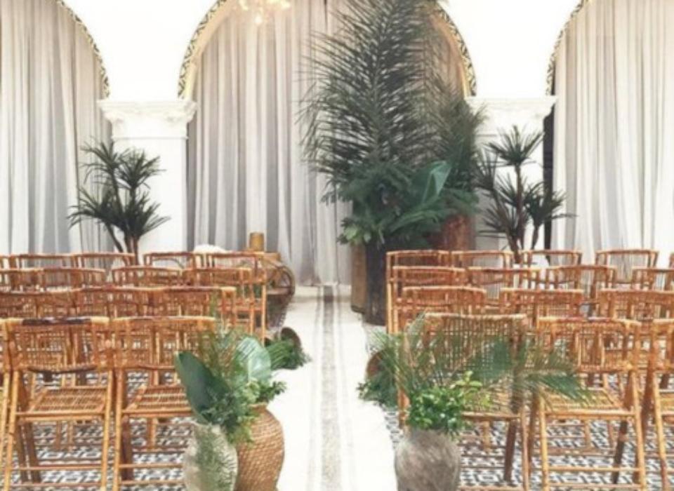 ceremonia bambu montada