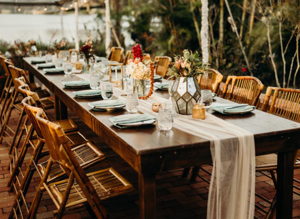 alquiler de sillas de bambú araba