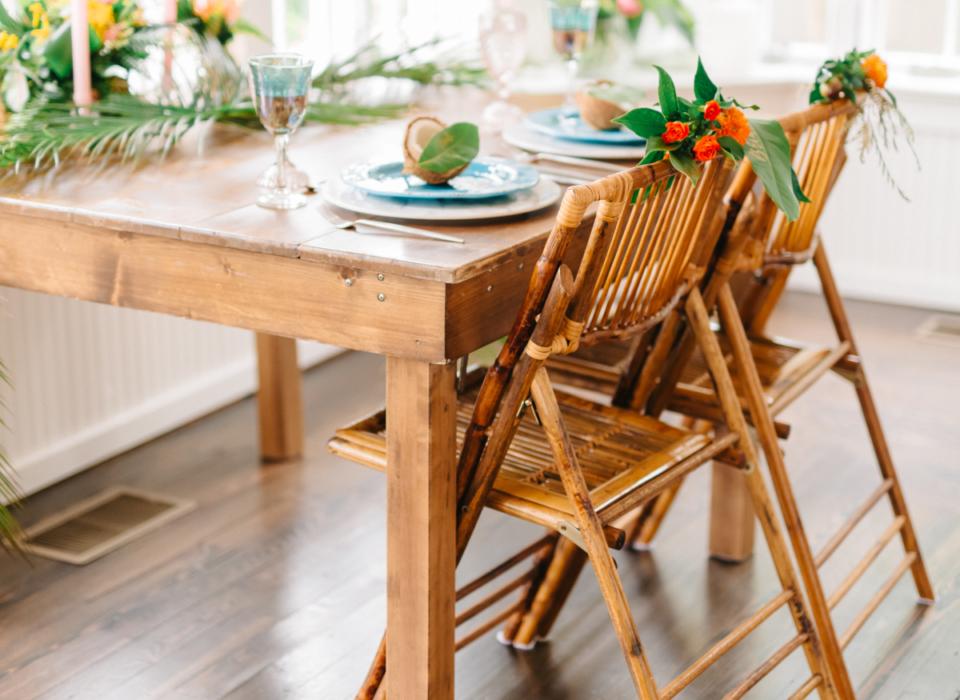 alquiler de sillas de bambú navarra