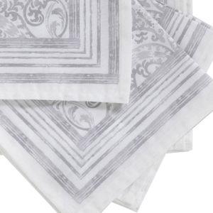 servilleta adamascado gris
