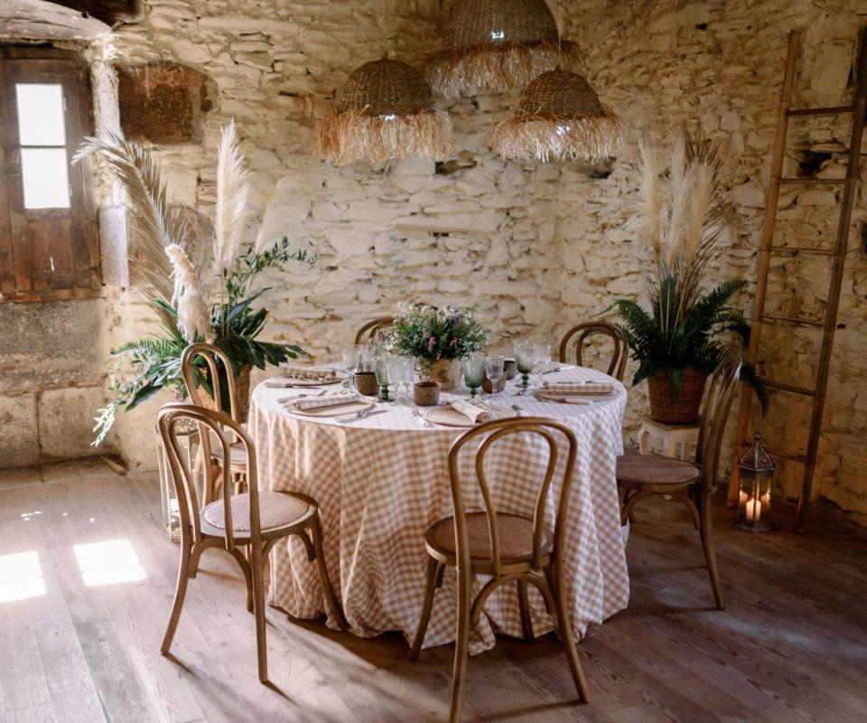 Menaje y mobiliario nupcial - Alquiler de material para bodas