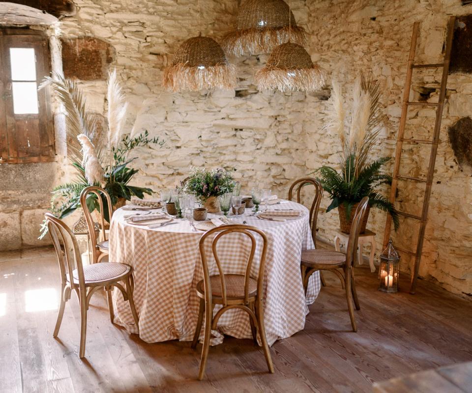 Mobiliario banquete nupcial