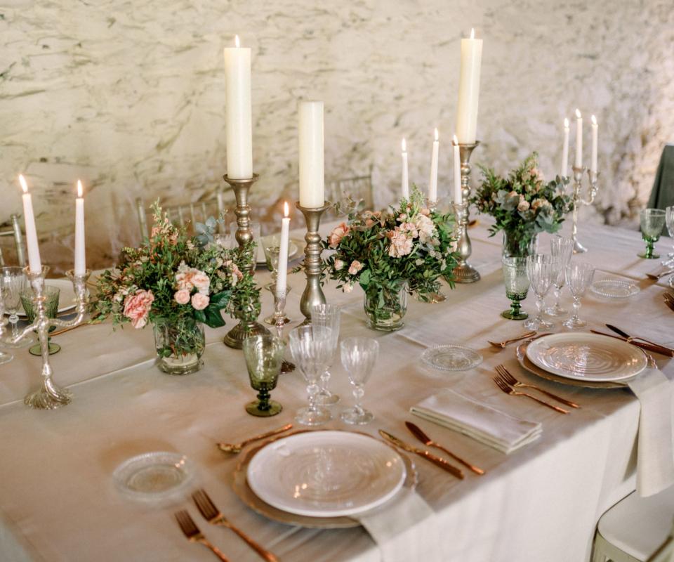 Menaje nupcial - Alquiler de material para bodas