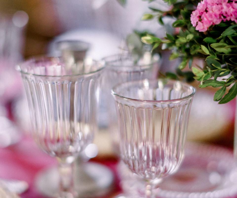 Menaje - Alquiler de copas para bodas