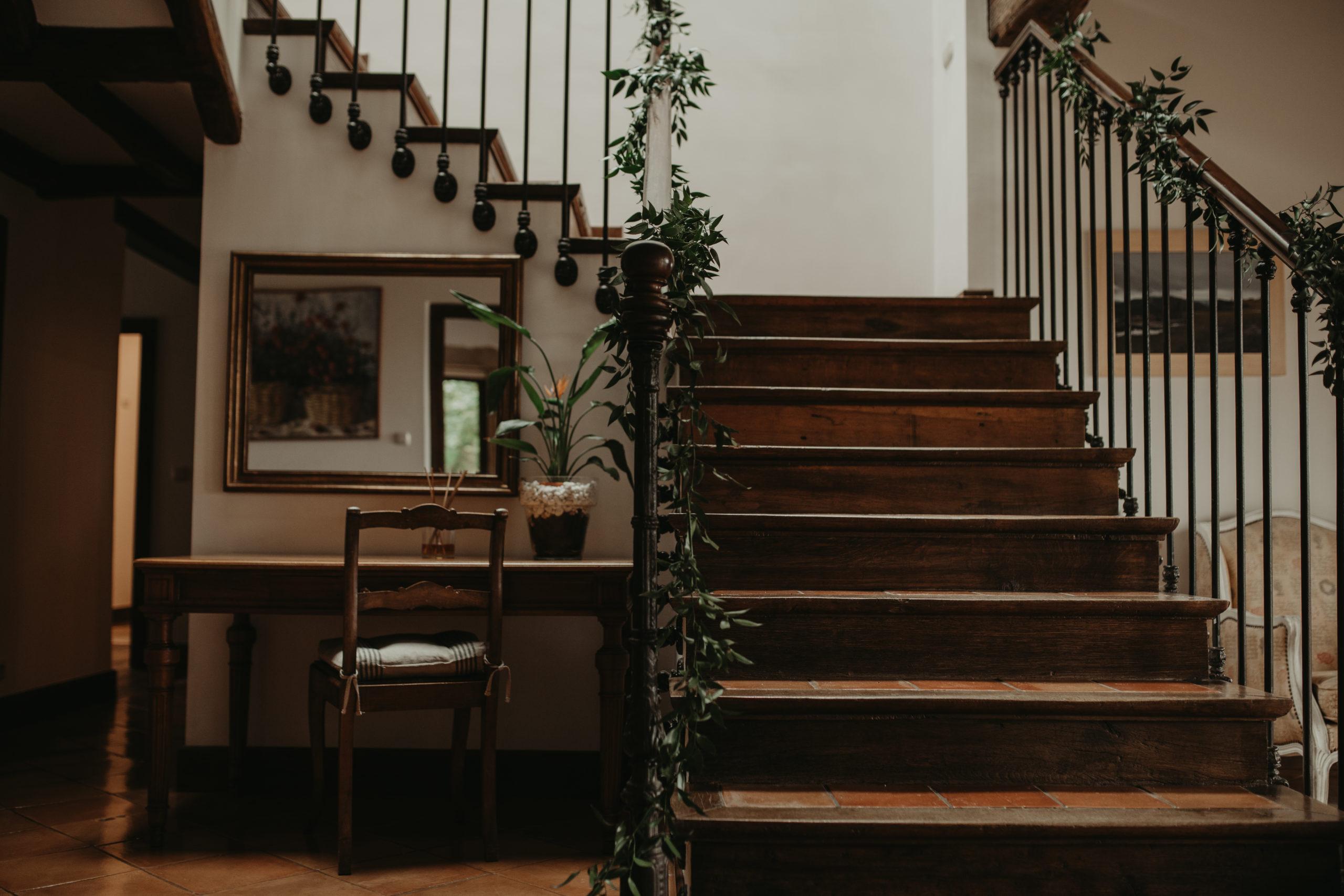 Escaleras de una finca privada en Hondarribia