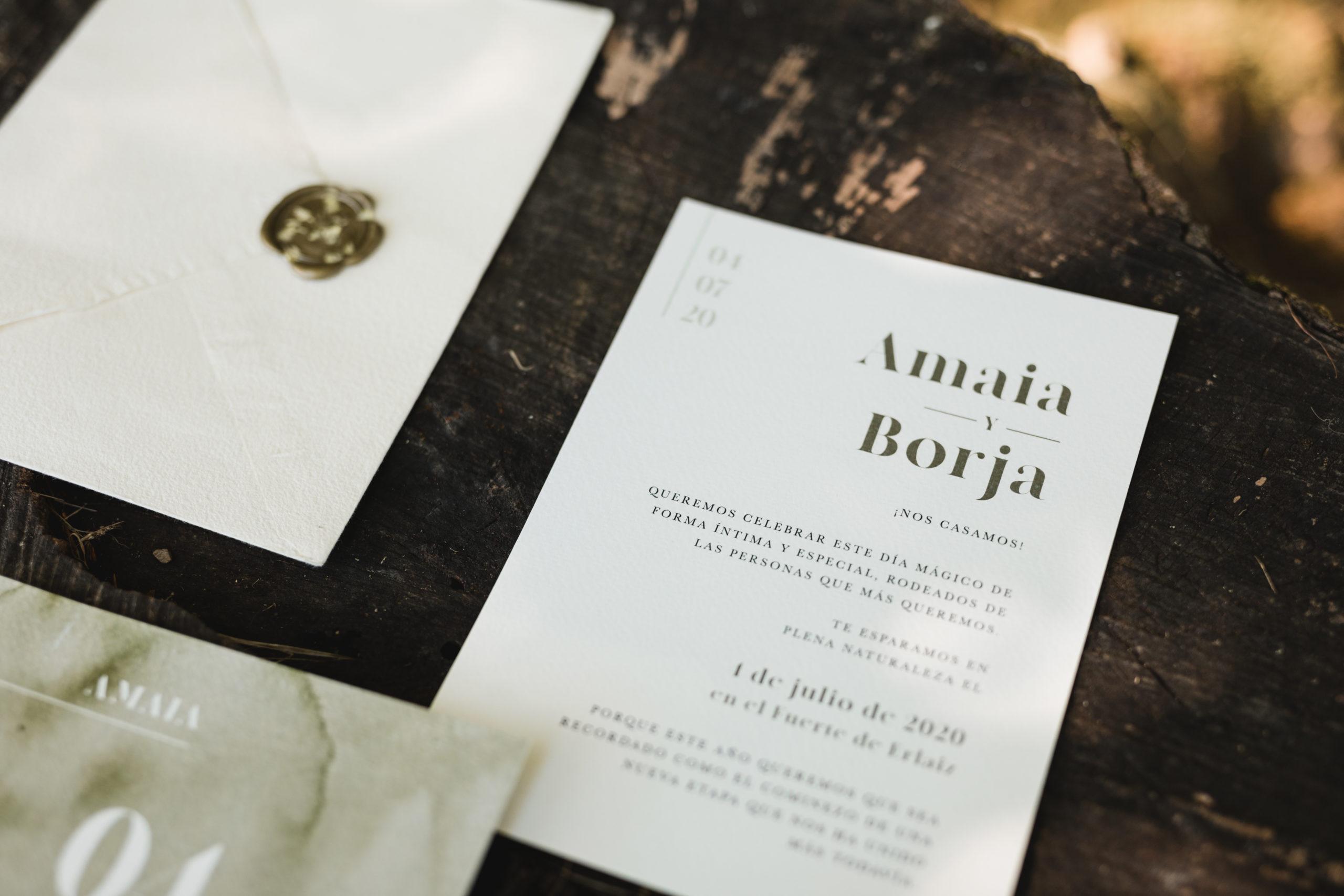Invitaciones de boda La bahía creativa