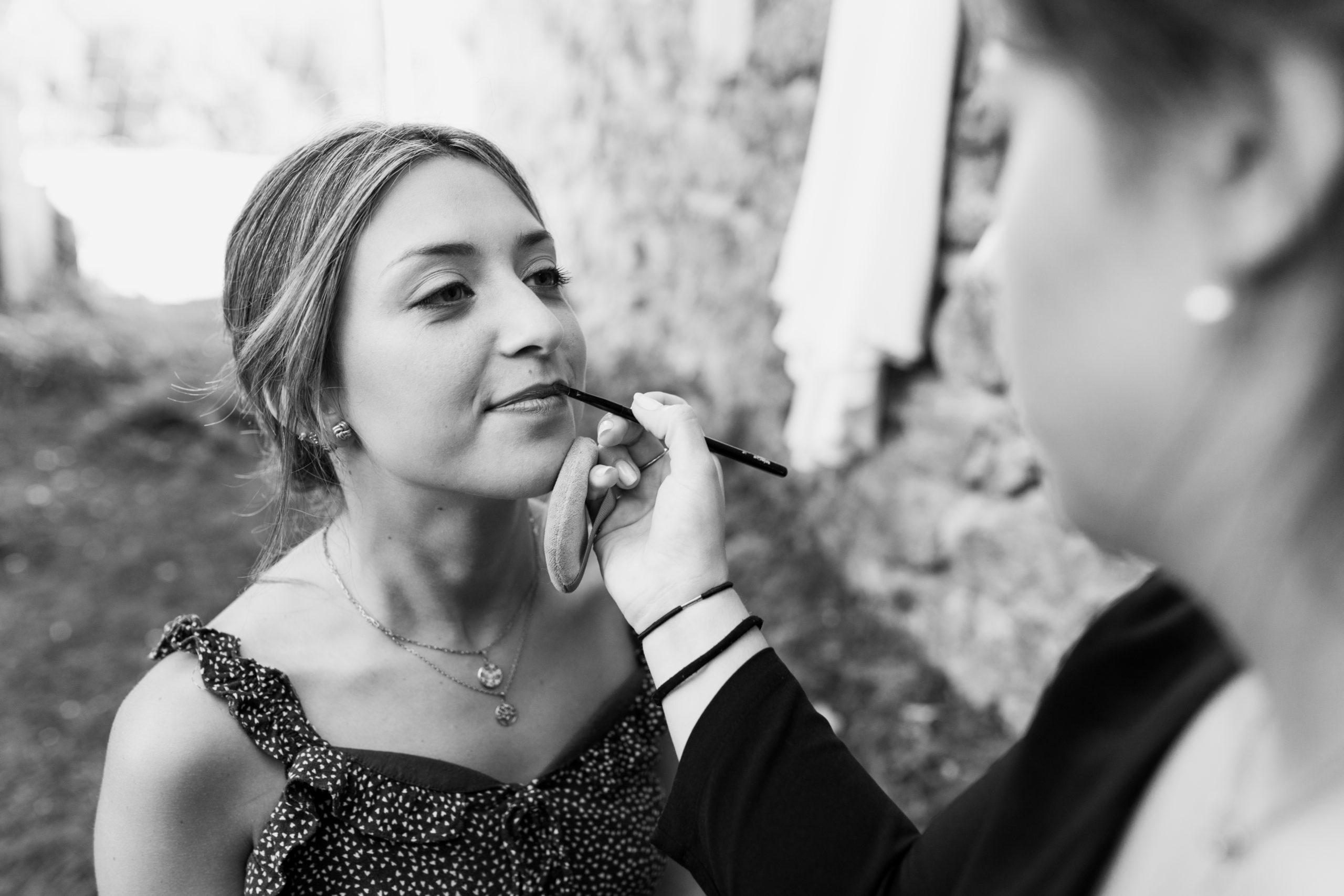 Proceso maquillaje de la novia