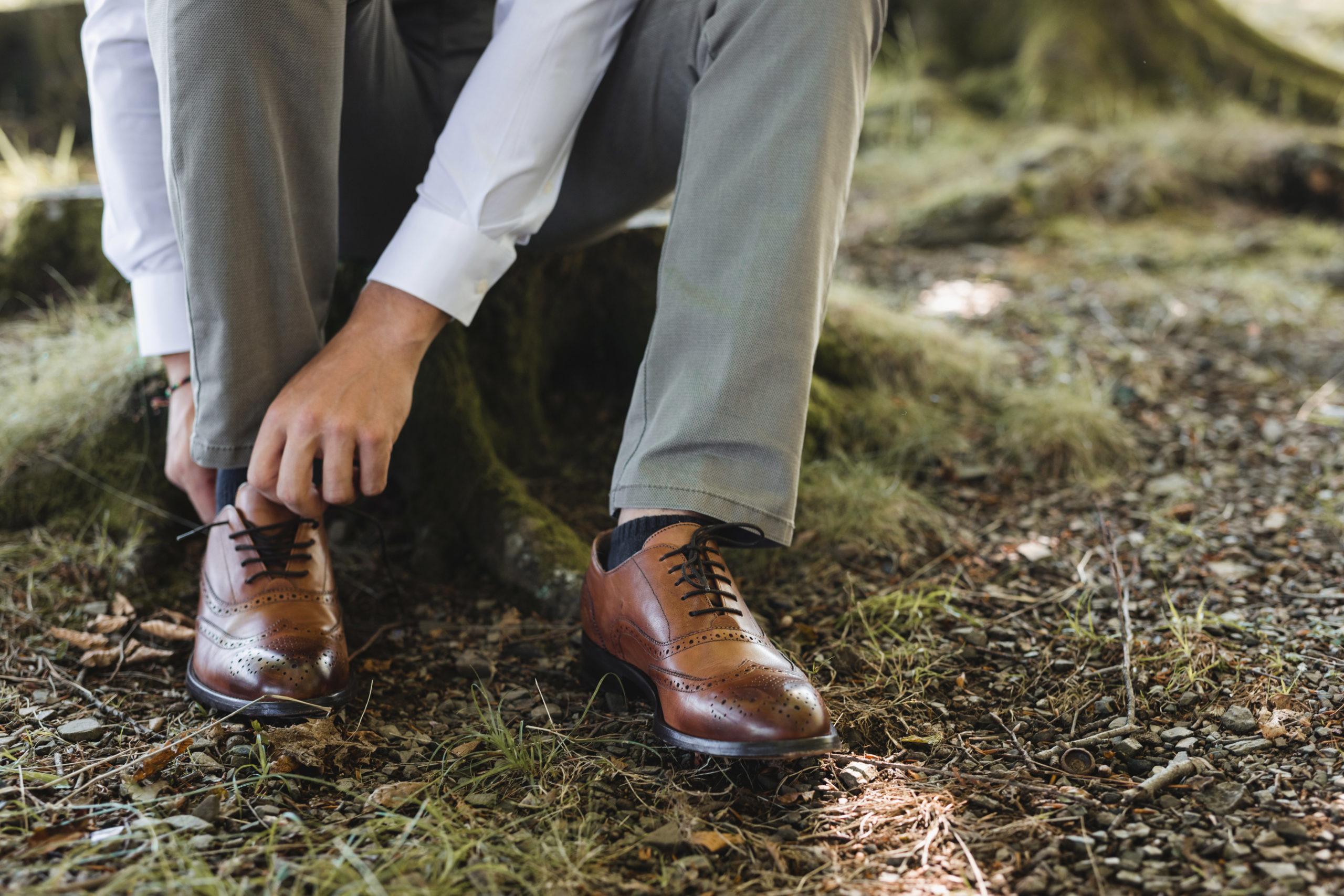 Zapatos elegantes para el novio