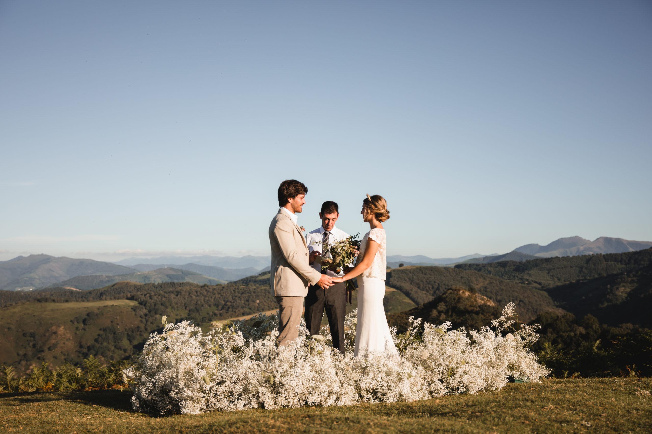 Una ceremonia íntima en la montaña