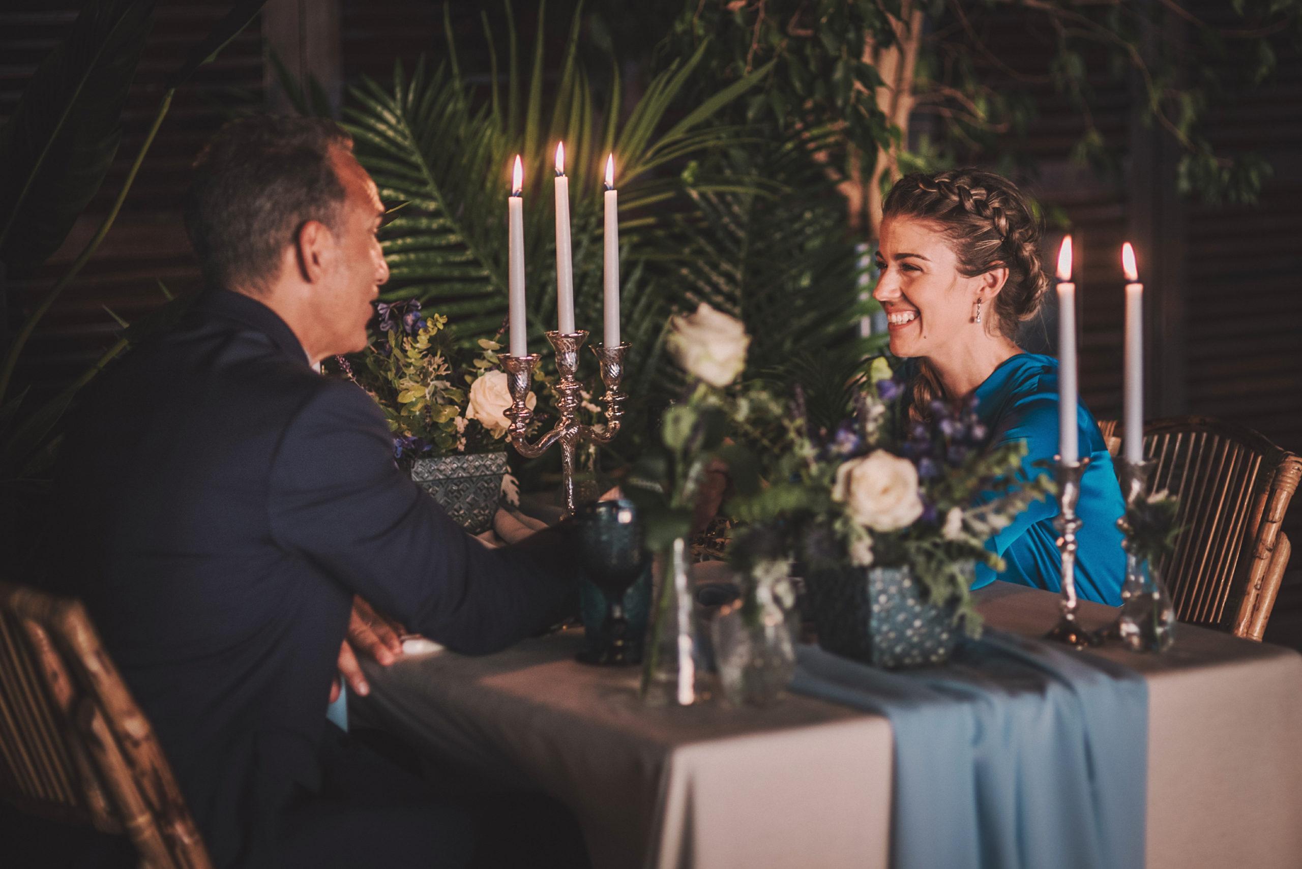 Cena íntima y romántica de pedida de mano