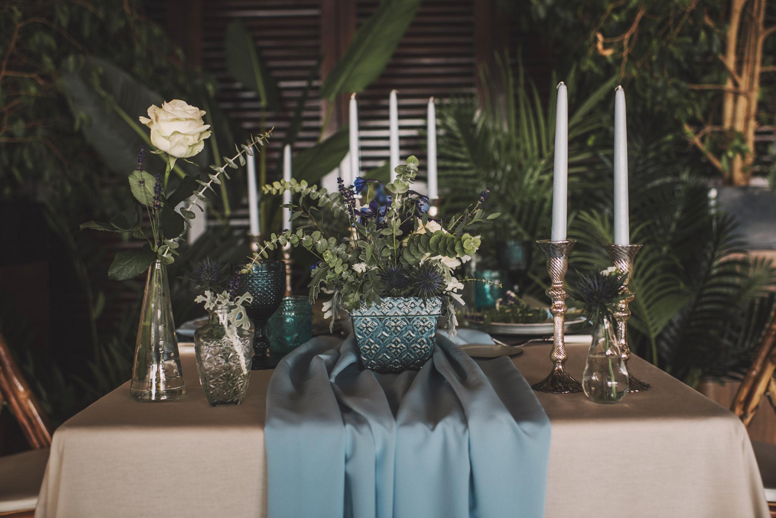 Menaje y decoración de mesas románticas