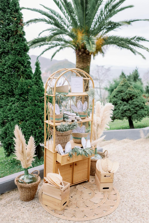 Rincón de alpargatas y paipais para una boda especial