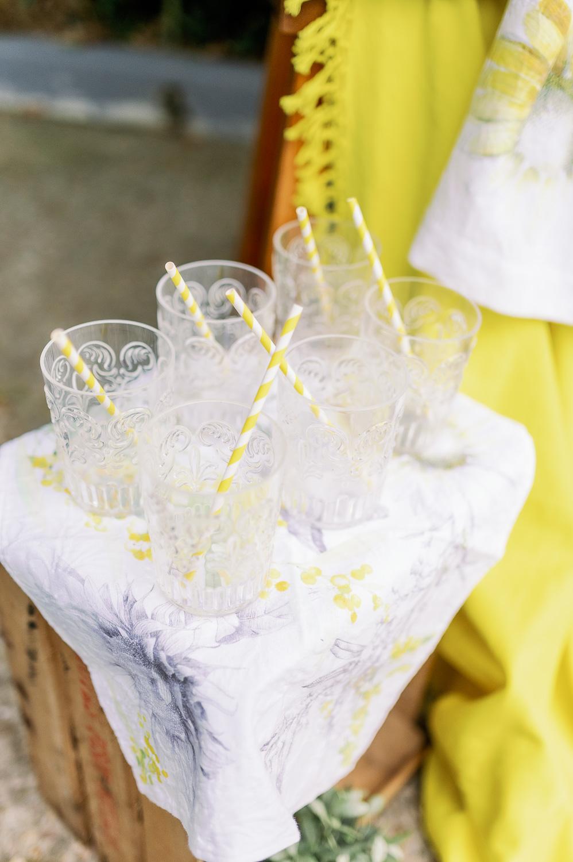 Vaso de cristal transparente para rincón de limionada