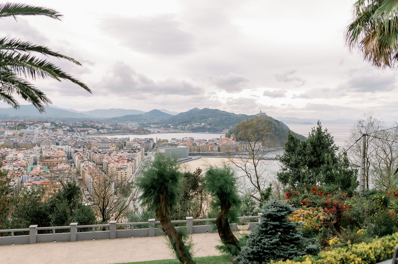 Vistas del Mirador de Ulia a Donostia